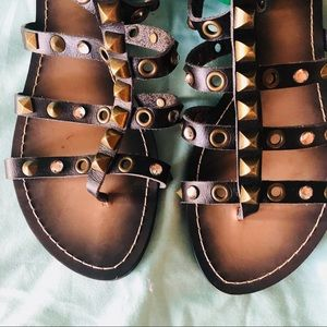 Shoes - ALDO Women's Black Gladiator Sandal Sz 8.5 Studded